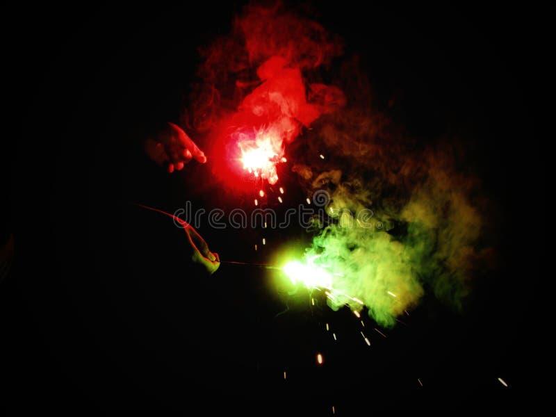 Fuegos artificiales durante diwali fotografía de archivo libre de regalías