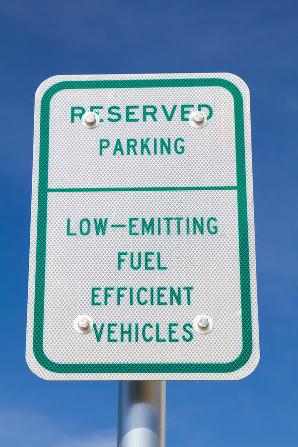 Fuel Efficient Vehicles Sign Stock Image
