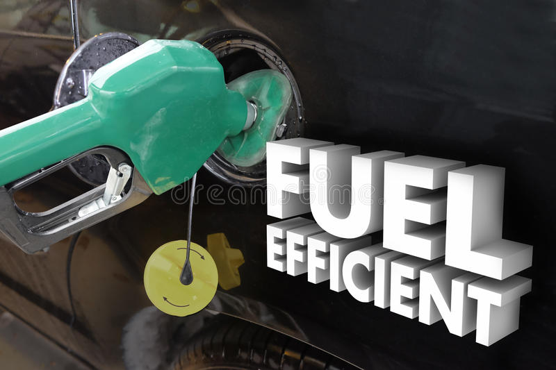 Fuel Efficient Words Gasoline Power Filling Tank Station royalty free stock photos