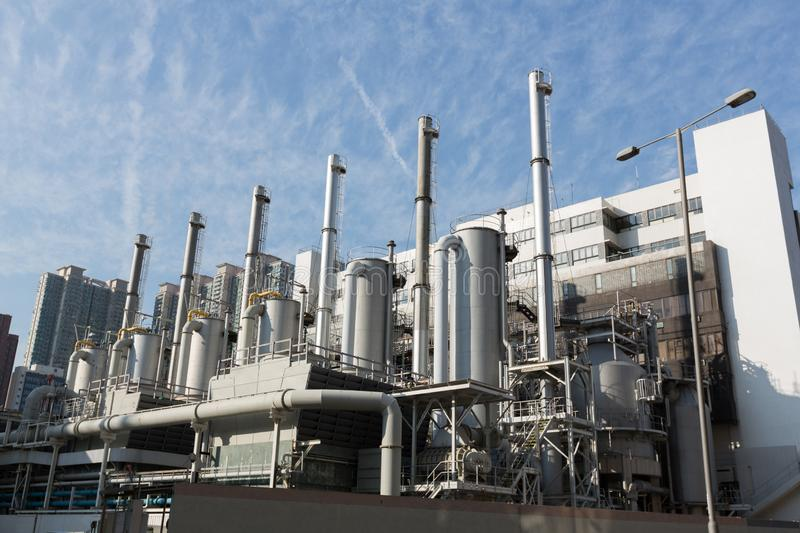 Fuel gas Plant. General view of the Fuel gas Plant royalty free stock photo