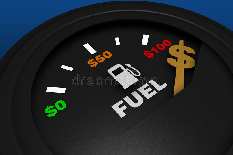 Fuel gauge royalty free illustration