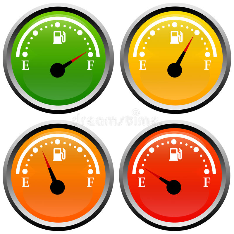 Download Fuel gauge stock illustration. Illustration of costly - 28959300