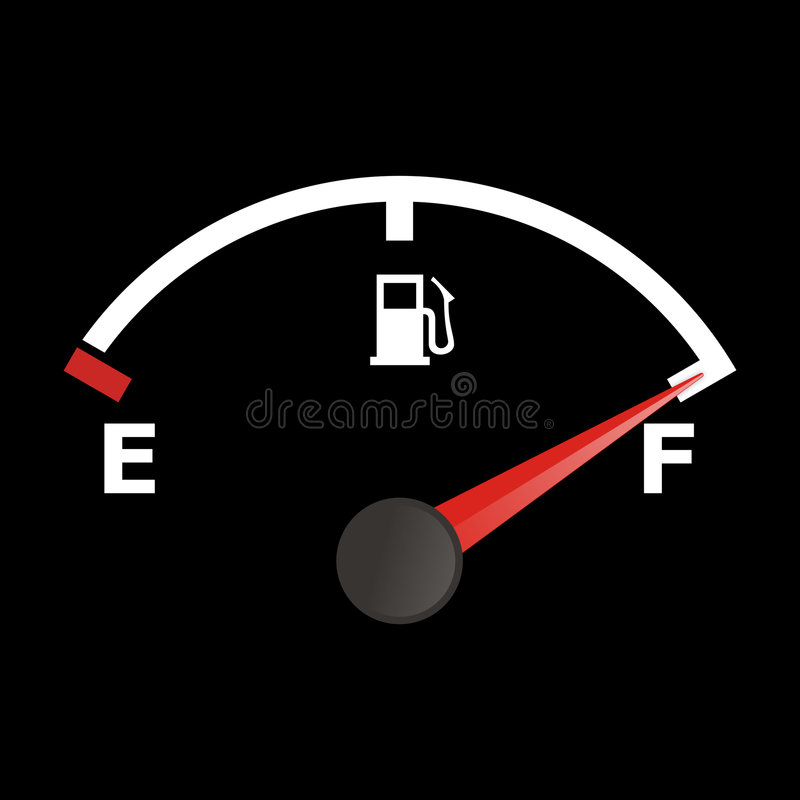 Fuel gauge royalty free illustration