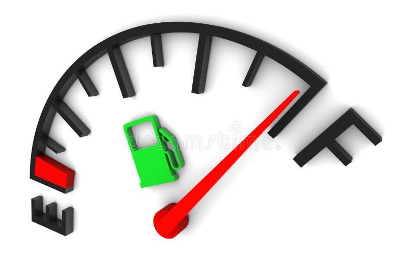 Fuel Gauge Full vector illustration