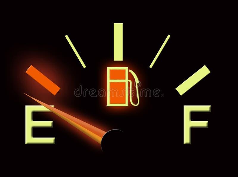 Fuel gauge stock illustration
