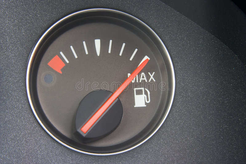 Download Fuel Gauge Reading Full stock photo. Image of colour, part - 7757452