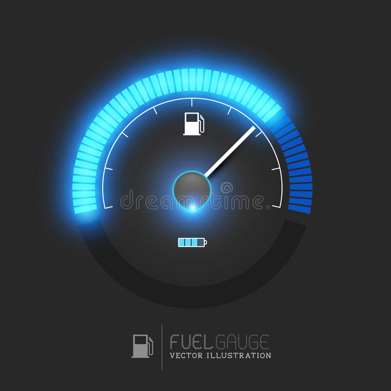 Fuel Gauge Vector. A fuel gauge, speedometer vector illustration stock illustration