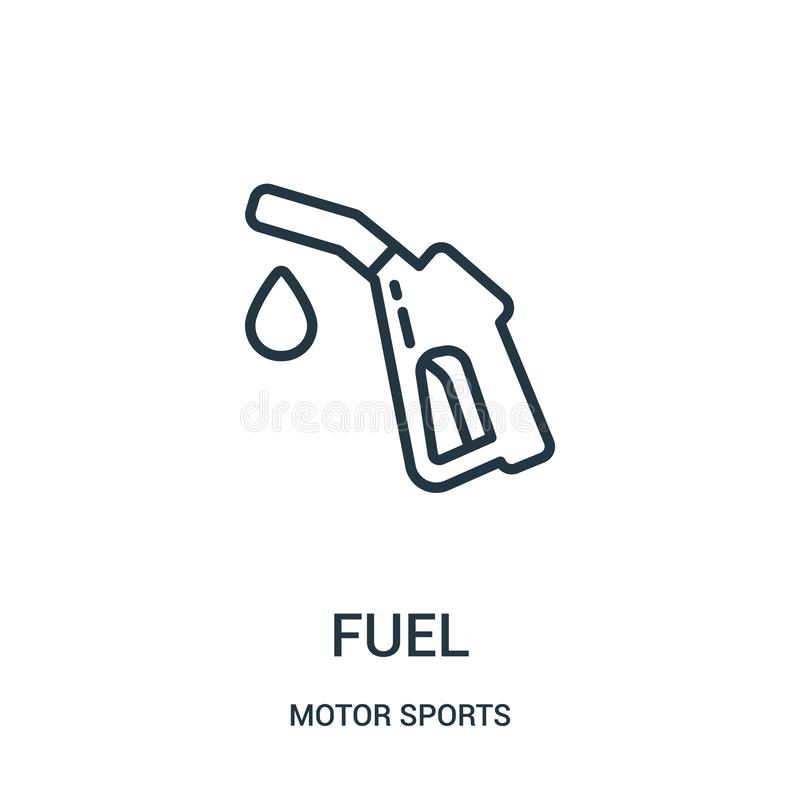 fuel icon vector from motor sports collection. Thin line fuel outline icon vector illustration. Linear symbol royalty free illustration