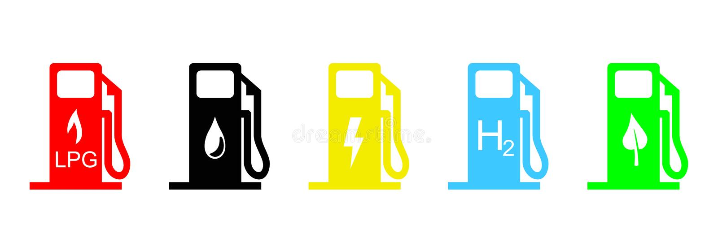 Fuel icons stock illustration