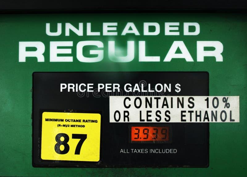 Fuel pump face stock image