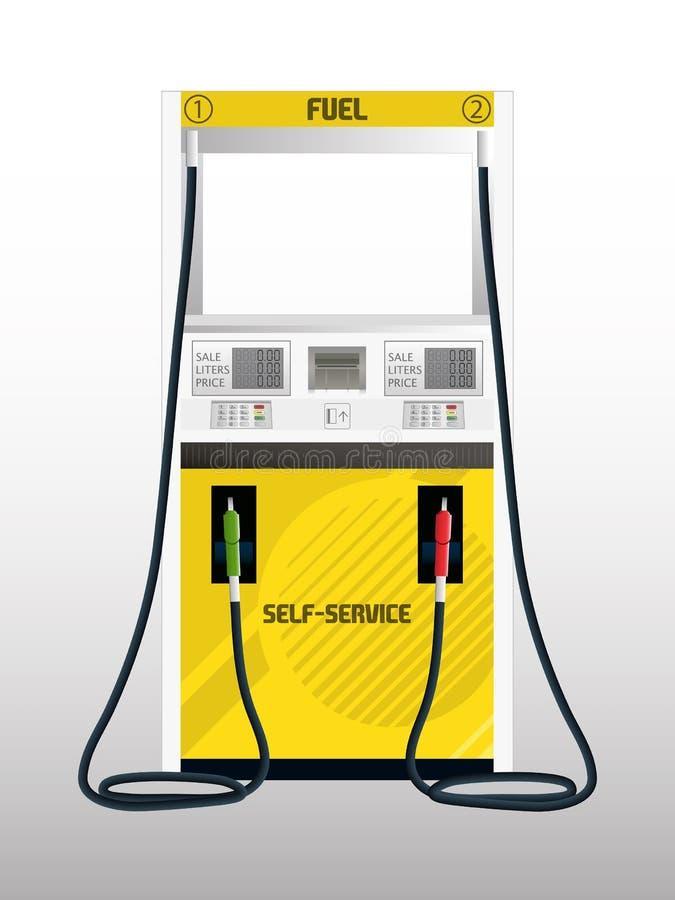 Fuel Pump Self Service. Illustration of a Fuel Pump Self Service stock illustration