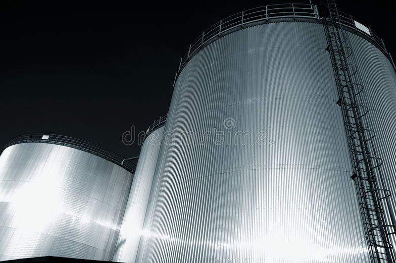 Download Fuel Tanks Refinery At Dusk Stock Images - Image: 8870534