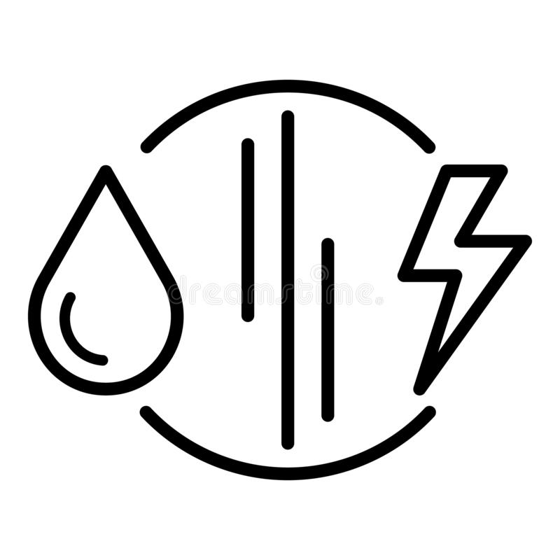 Fuel versus electricity icon, outline style. Fuel versus electricity icon. Outline fuel versus electricity vector icon for web design isolated on white vector illustration
