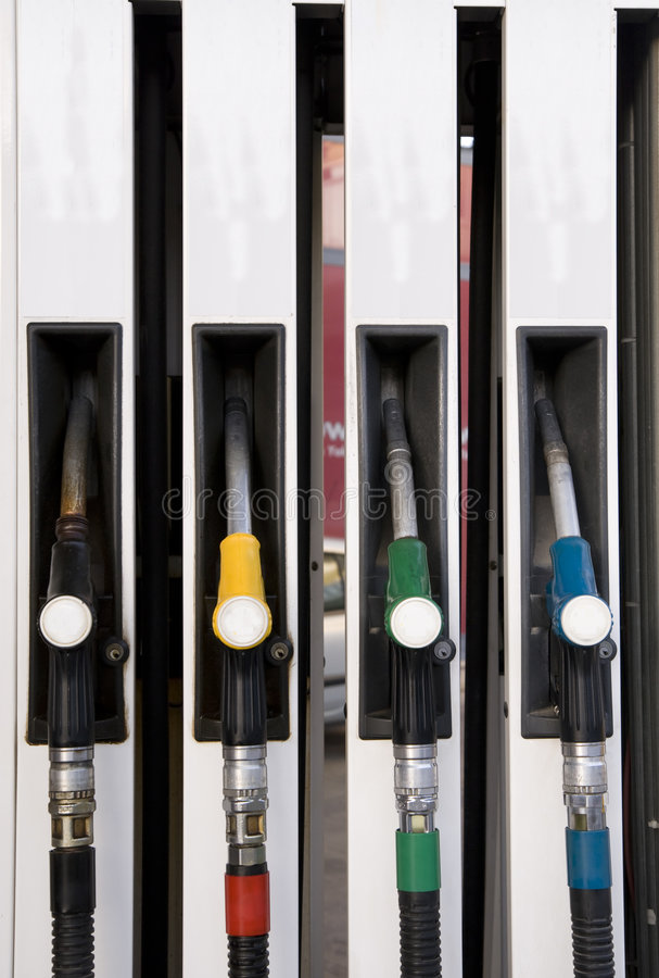 Download Fuelling nozzles stock photo. Image of combustible, gallon - 7121138