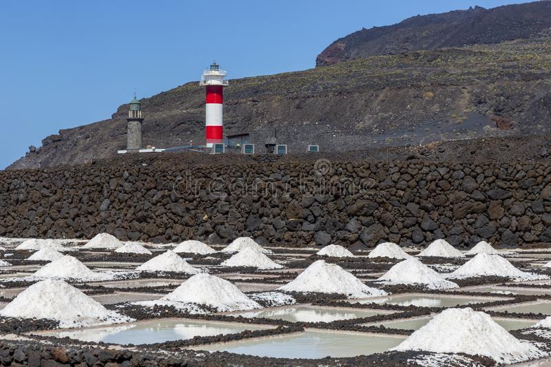 Fuencaliente αλυκές στο Λα Palma, Κανάρια νησιά στοκ φωτογραφία με δικαίωμα ελεύθερης χρήσης