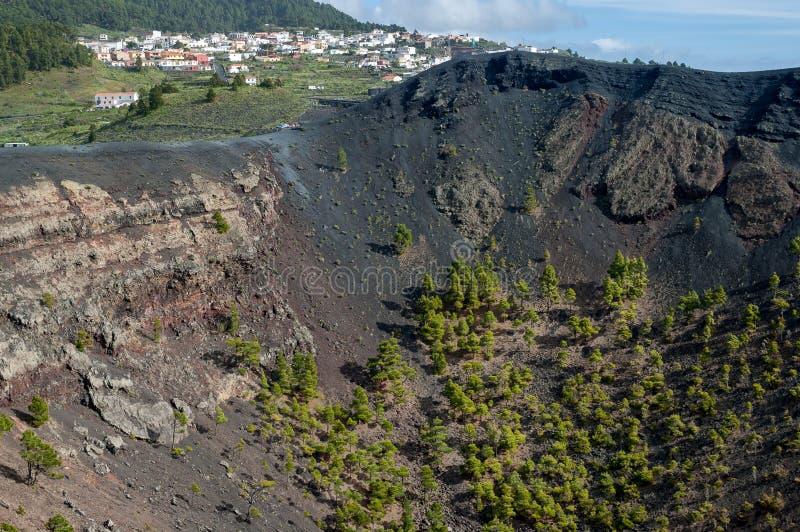 Fuencaliente και ηφαίστειο, Λα Palma, Κανάρια νησιά στοκ εικόνες