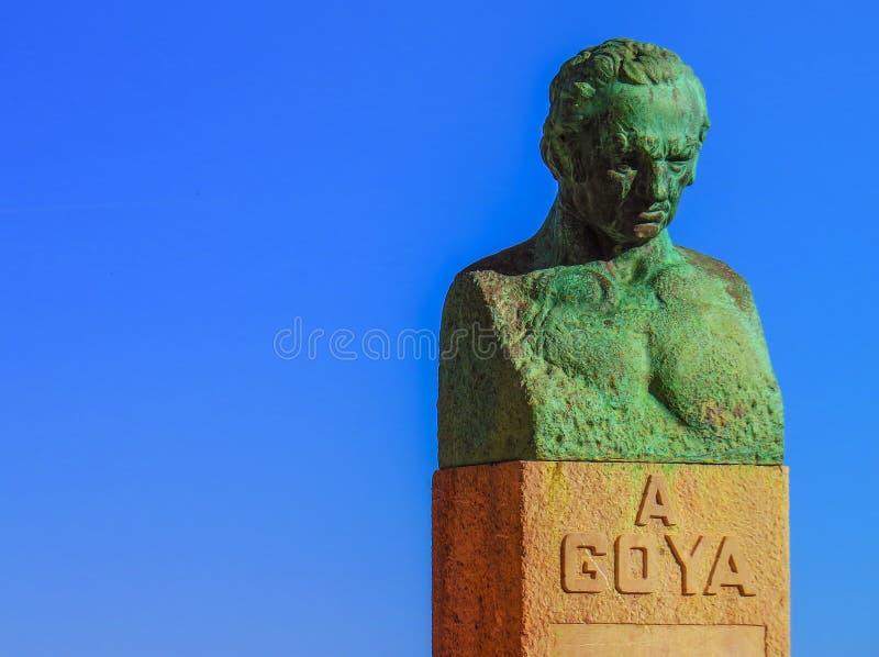 Fuendetodos Goya Statue imagenes de archivo