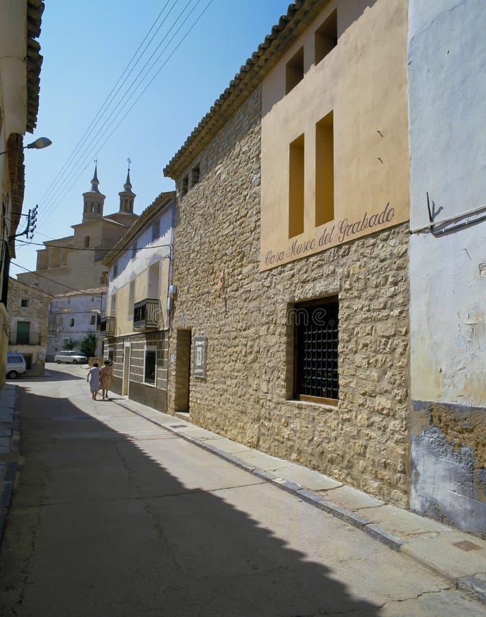 FUENDETOS, lugar de nacimiento del ` s de Goya fotos de archivo