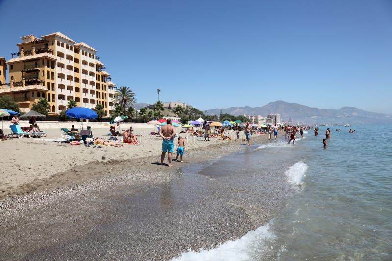 Fuengirola strand, Costa del Sol, Spanje royalty-vrije stock afbeelding