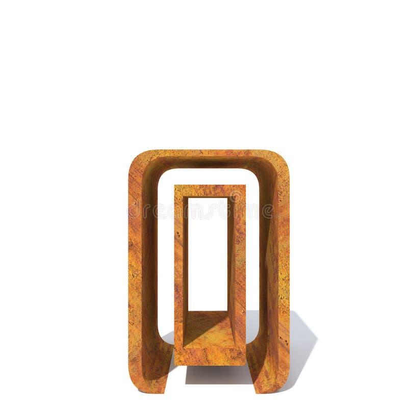 Fuente aherrumbrada vieja del metal ilustración del vector