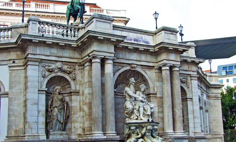 Fuente Albrecht o Albrechtsbrunnen, Wien - Viena, Austria imágenes de archivo libres de regalías