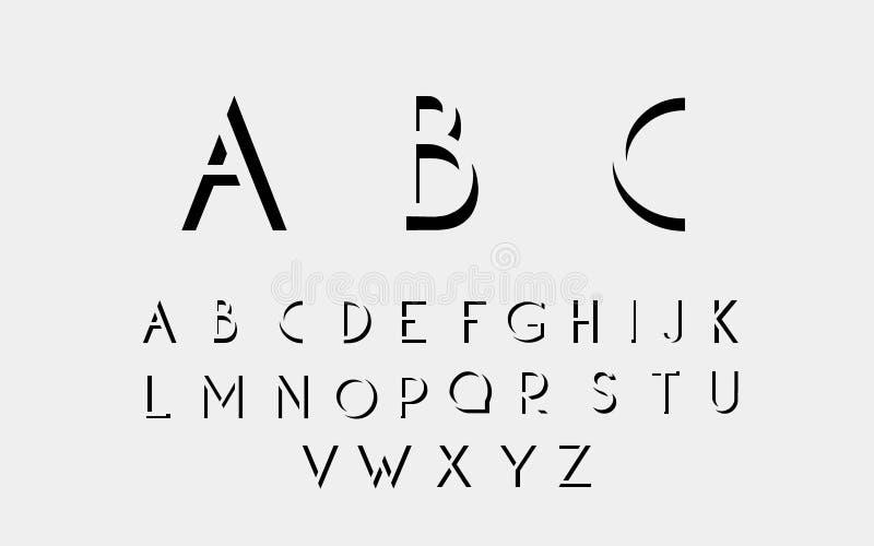 Fuente alfabética negra libre illustration