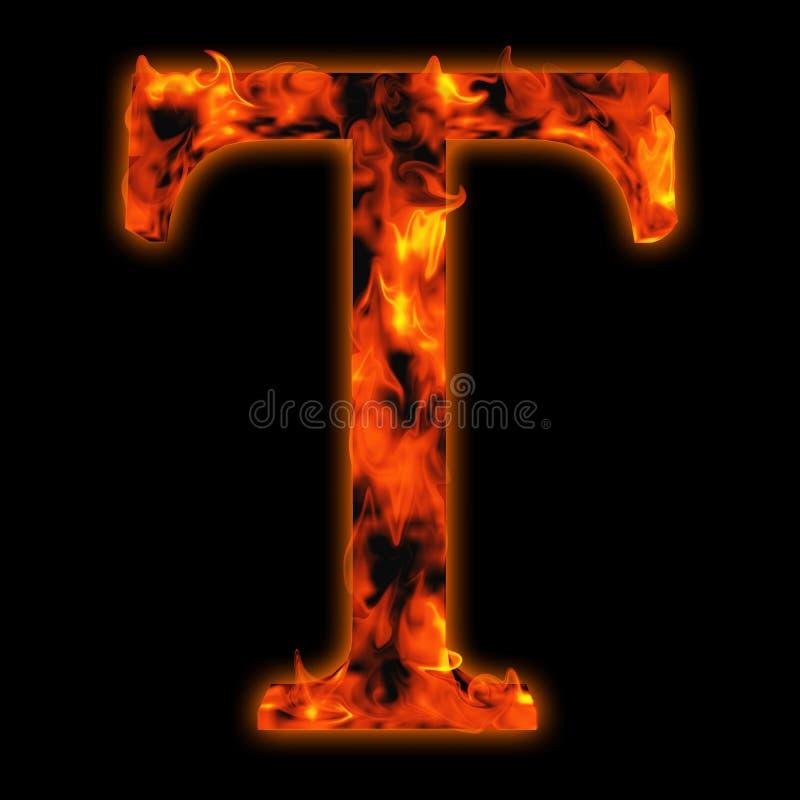 Fuente ardiente candente del fuego en llamas rojas y anaranjadas ilustración del vector