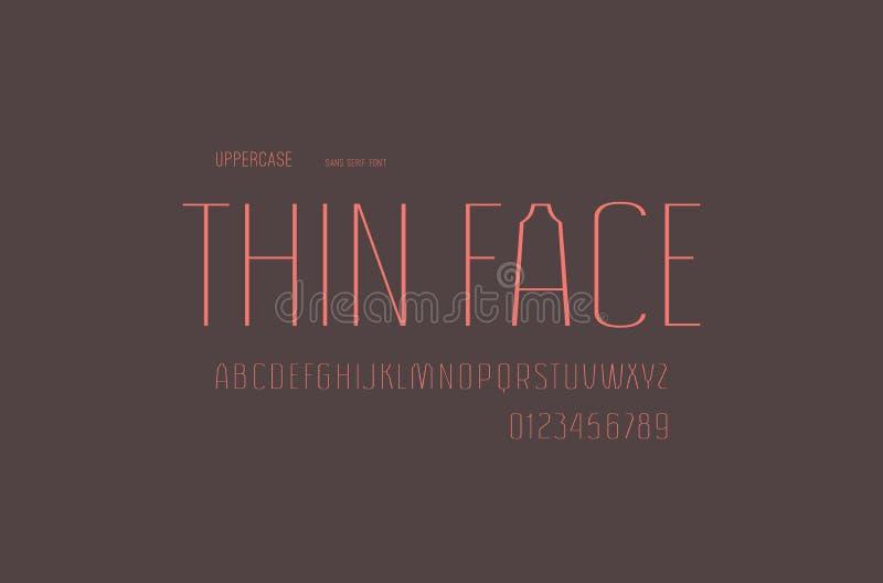 Fuente común de sans serif del vector, alfabeto, tipografía ilustración del vector