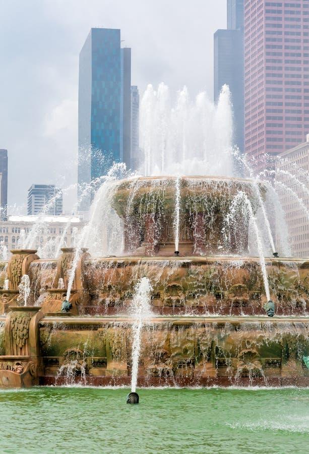 Fuente conmemorativa de Buckingham en Chicago Grant Park, los E.E.U.U. imágenes de archivo libres de regalías