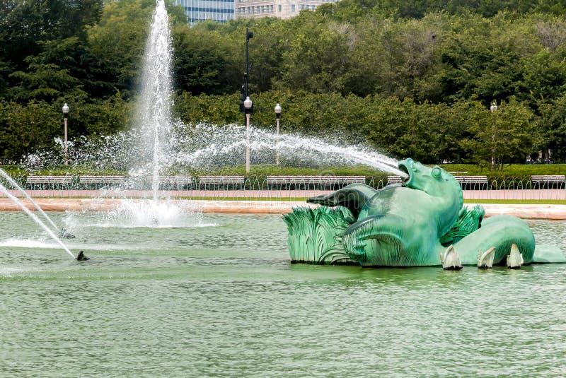 Fuente conmemorativa de Buckingham en Chicago Grant Park, los E.E.U.U. imagen de archivo libre de regalías