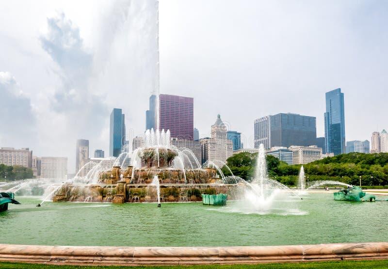 Fuente conmemorativa de Buckingham en Chicago Grant Park, los E.E.U.U. imagenes de archivo