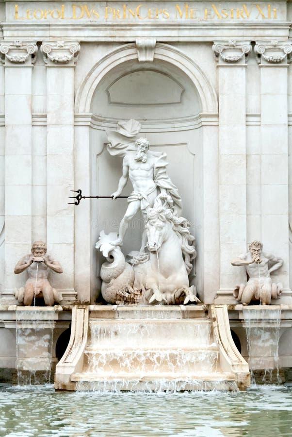 Fuente cuadrada del lavado del caballo del capítulo, Salzburg, Austria II imagenes de archivo