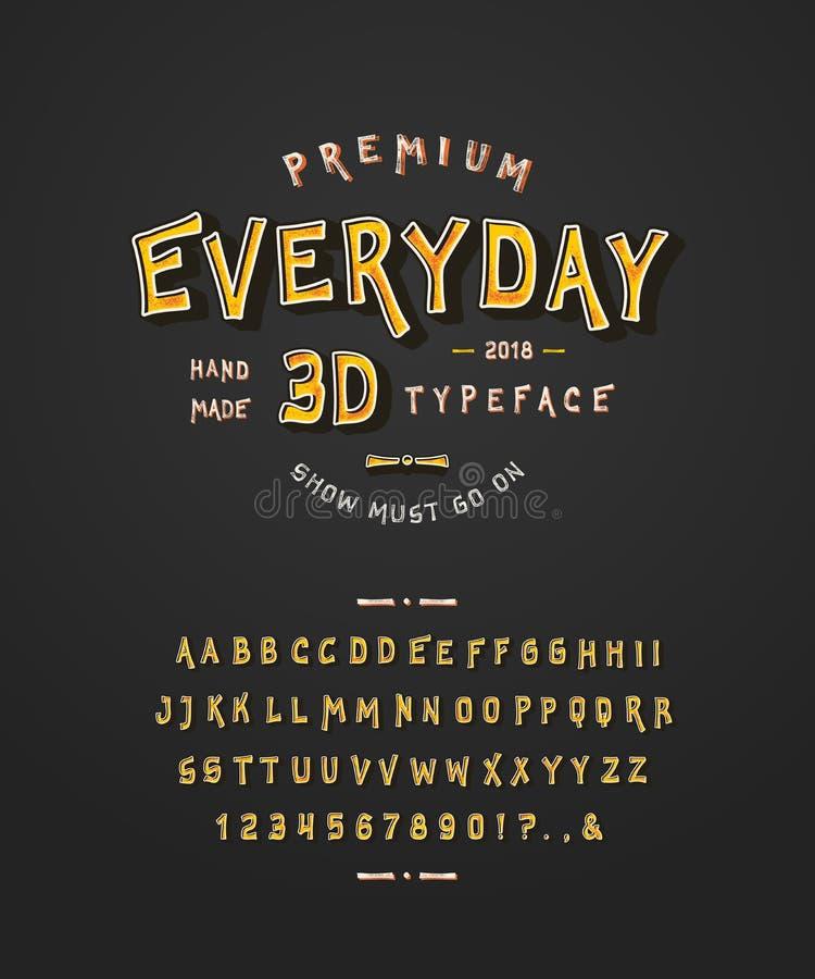 Fuente 3D diario libre illustration