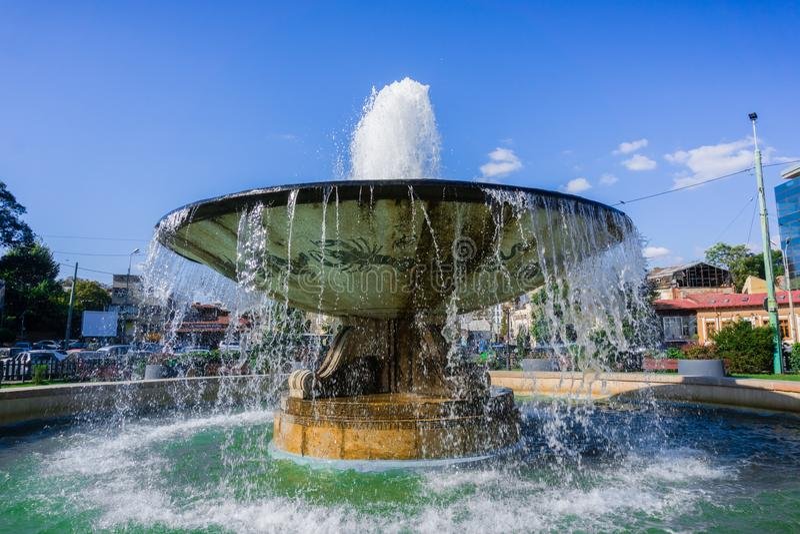 Fuente de agua del zodiaco, Bucarest, Rumania foto de archivo