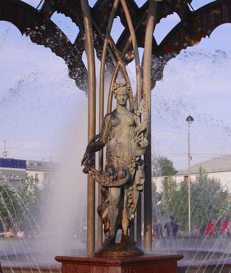 Fuente de agua en Siberia imagenes de archivo