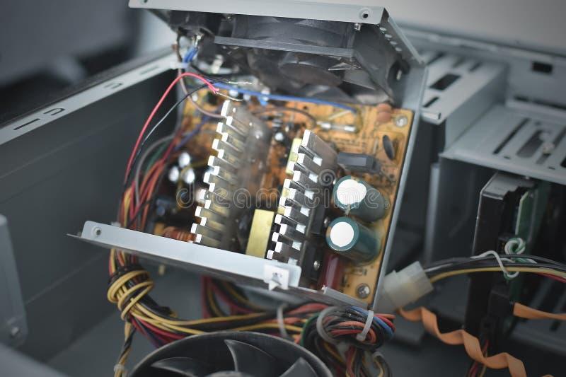 Fuente de alimentación del ordenador imagen de archivo