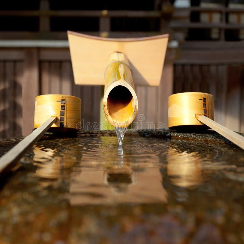 Fuente de bambú foto de archivo