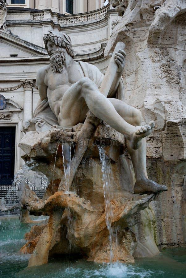 Fuente de Bernini foto de archivo