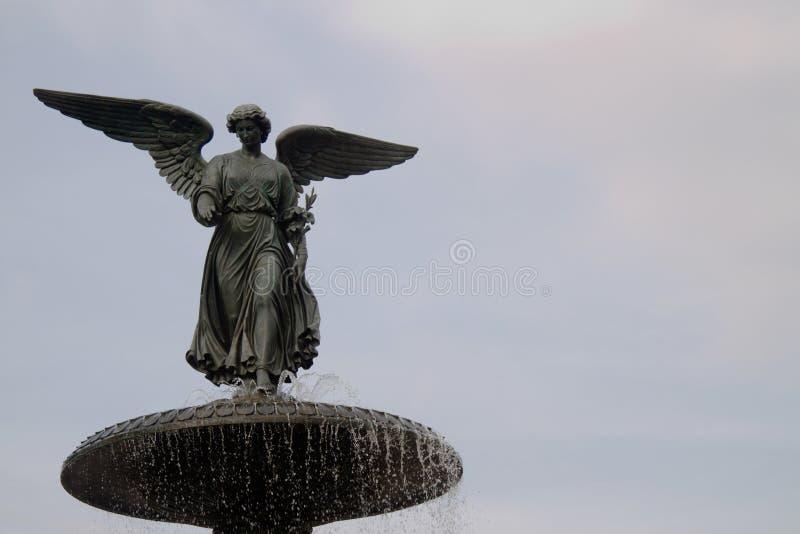 Fuente de Bethesda en Central Park imágenes de archivo libres de regalías