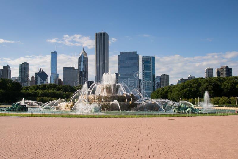 Fuente de Buckingham en Chicago fotografía de archivo