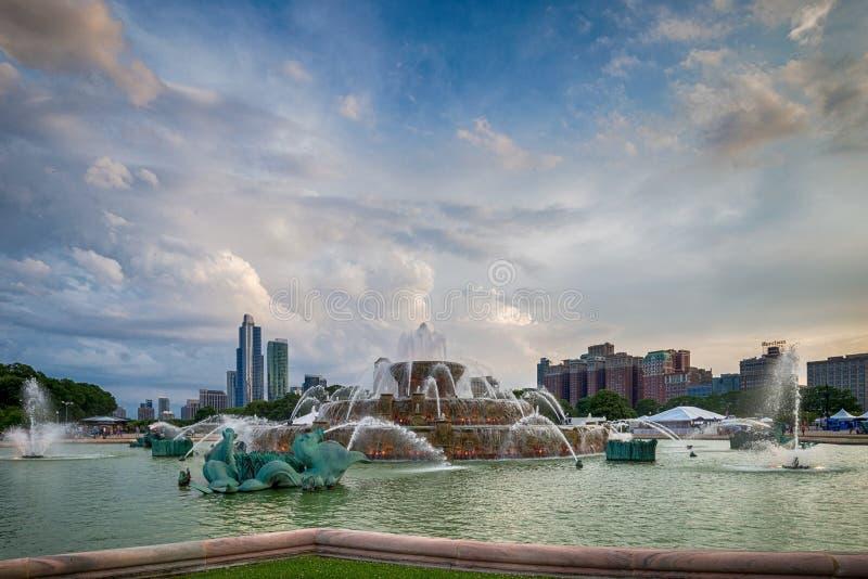 Fuente de Buckingham en Grant Park, Chicago imagenes de archivo