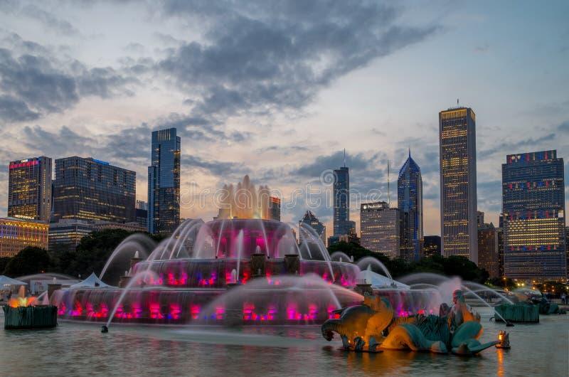 Fuente de Buckingham en Grant Park, Chicago fotografía de archivo