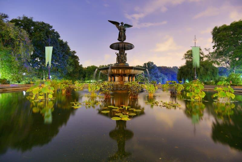 Fuente de Central Park foto de archivo