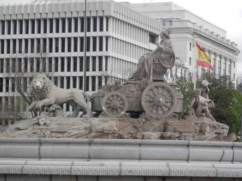 Fuente De Cibeles De La Terraza Del Ayuntamiento De Madrid
