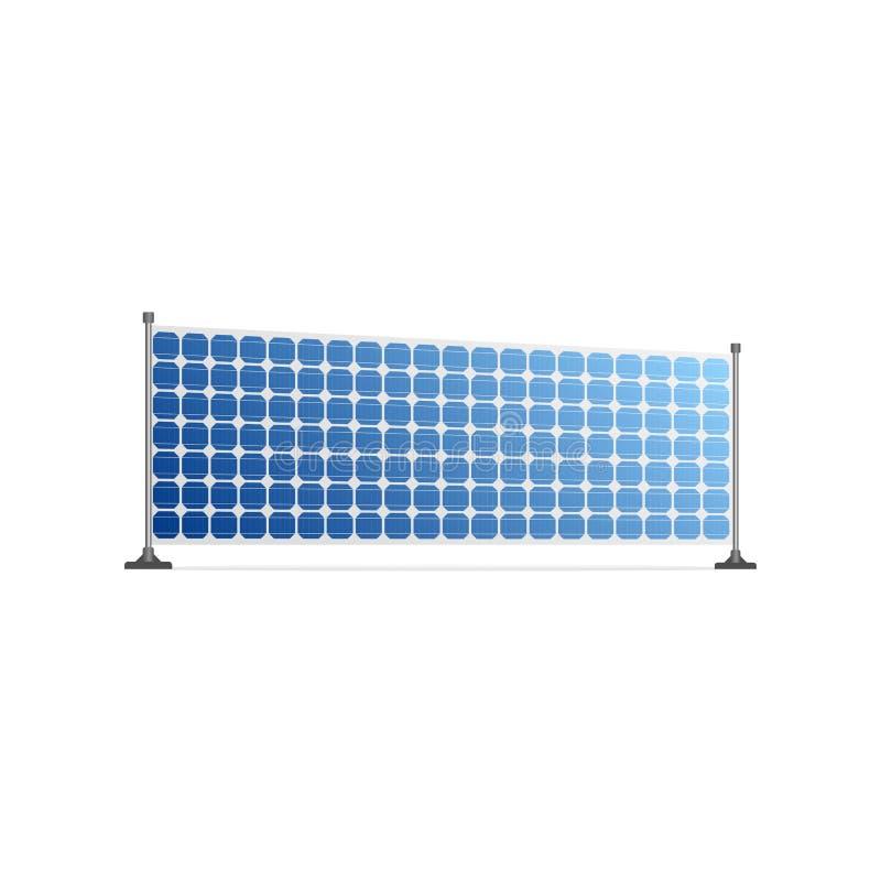 Fuente de energía ecológica realista del panel solar libre illustration