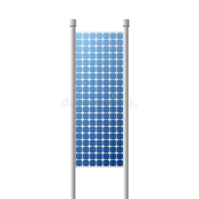 Fuente de energía renovable fotovoltaica del panel solar ilustración del vector