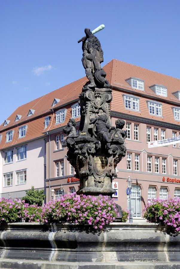 Fuente de Hércules de Zittau en Alemania imagenes de archivo