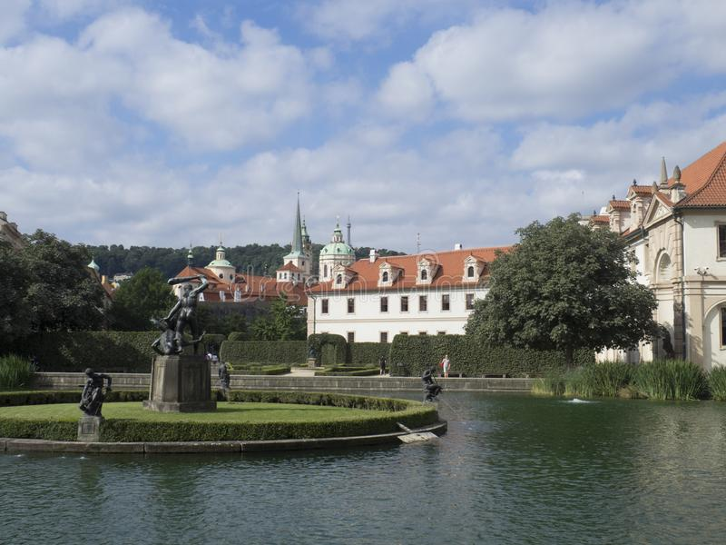 Fuente de Hércules, jardín de Wallenstein, Praga foto de archivo libre de regalías
