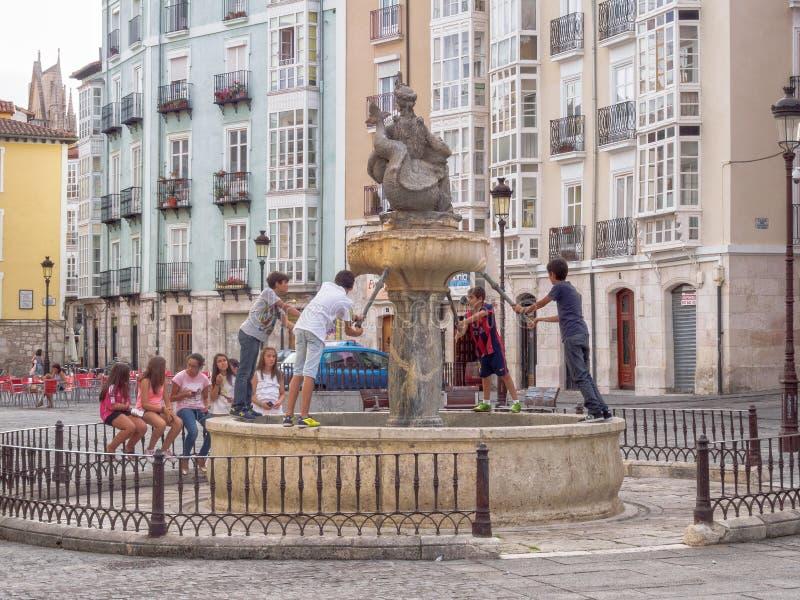 Fuente de La Flora - Burgos royaltyfria bilder