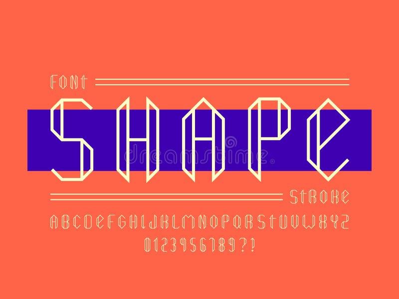 Fuente de la forma Alfabeto del vector libre illustration